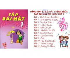 Tổng hợp trọn bộ 12 bài hát lớp 1 chính khóa tập bài hát âm nhạc lớp 1 lời KARAOKE by MIMI CHANNEL