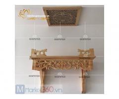 Mẫu bàn thờ đẹp hiện đại cho chung cư kiểu treo tường tinh tế