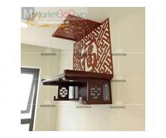 Bàn thờ phật treo tường với thiết kế đẹp mắt cùng mẫu mã đa dạng