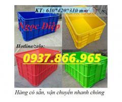 Thùng nhựa đặc HS019, thùng đặc có nắp 3T1