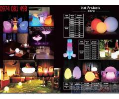 Cung cấp bàn ghế led ghế nhựa led phát sáng đổi màu giá tốt