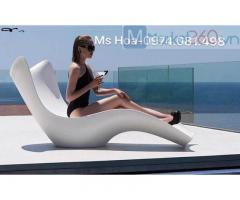 Ghế tắm nắng composite fiberglass, ghế hồ bơi giá rẻ