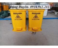 Thùng rác 20 y tế màu vàng,thùng rác đạp chân màu vàng