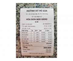 Combo máy tính tiền giá rẻ cho quán mỳ/tào phớ Đà Nẵng