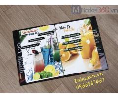 In menu nhựa, đặt in menu đẹp, in menu nhà hàng
