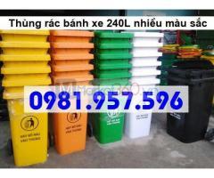 Thùng rác công cộng 240L, thùng rác 2 bánh xe 240L