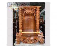 Cách đặt bàn thờ ông địa với mẫu kích thước bàn thờ đẹp