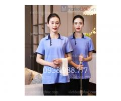 Công ty may đồng phục tạp vụ chuyên nghiệp, form đẹp, dễ mặc tại Hà Nội