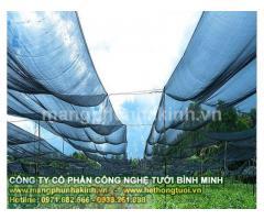 Lưới che nắng thái lan, lưới che nắng khổ 3m x50m, lưới che nắng khổ 4m x50m, lưới che nắng màu xanh, lưới che nắng màu đen