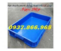Sóng nhựa bít HS025, hộp nhựa công nghiệp