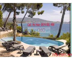 Ghế bể bơi Grosfillex, ghế tắm nắng ngoài trời, ghế sân vườn