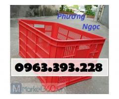 Sóng nhựa hở HS004, sọt nhựa đựng hàng cao 31, thùng nhựa rỗng HS004