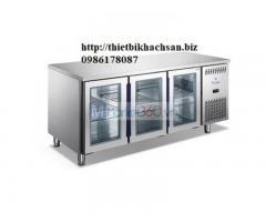 Tủ lạnh đông để bàn 3 cánh kính furnotel