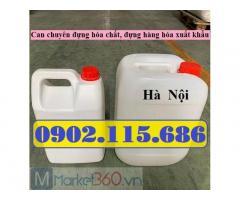 Can nhựa vuông 5lit, can hóa chất 5lit, can 5lit đựng hàng xuất khẩu, can 5lit đựng tinh dầu, can 5lit đựng mật ong, can 5lit đựng dung môi,