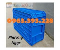 Thùng nhựa đặc B1, hộp nhựa B1, thùng nhựa công nghiệp cao 20 cm, thùng nhựa cơ khí