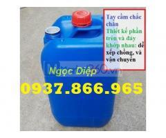 Can nhựa HDPE 25l, can nhựa đựng hóa chất 25l