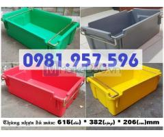 Thùng nhựa có quai, thùng quai sắt đựng linh kiện, hộp quai sắt đựng phụ tùng