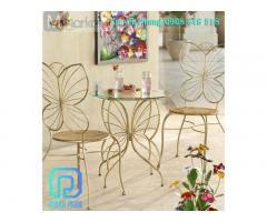 Quán cafe của bạn sẽ thêm phần ấn tượng với những mẫu bàn ghế sắt kiểu dáng đa dạng, ấn tượng