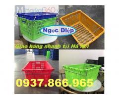 Sọt nhựa quai sắt, sọt nhựa công nghiệp HS011