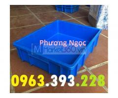 Thùng nhựa B9, khay nhựa đựng linh kiện, sóng nhựa bít B9, thùng nhựa đặc công nghiệp