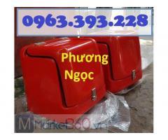 Thùng chở hàng loại nhỏ sau xe máy, thùng nhựa giao hàng, thùng cách nhiệt