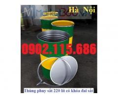 Thùng phi sắt giá rẻ, thùng phi sắt cũ giá rẻ, giá thùng phuy sắt 200l, thùng phuy sắt 220 lít, thùng phi sắt 200 lít,