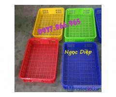 Sọt nhựa đựng rau củ, sóng nhựa rỗng HS010