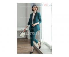 Nhận may áo vest nữ đồng phục hợp thời trang, nhiều mẫu mới, giá tốt nhất