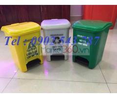 Thùng rác 15 lít đạp chân ,thùng rác y tế 15 lít ,thùng rác 15 lít