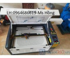 Máy laser 6040 khắc lịch gỗ, khắc hoa quả tết 2021