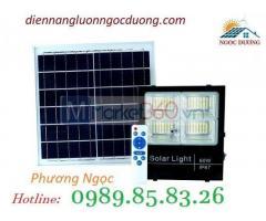 Đèn LED pha năng lượng mặt trời 60W 4 khoang, đèn 60W năng lượng mặt trời 4 ngăn