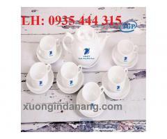 Bộ ấm trà in logo uy tín chất lượng,quà tặng khách hàng ở Đà Nẵng