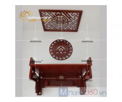 Mẫu bàn thờ treo tường đẹp với đa dạng họa tiết hoa văn độc đáo
