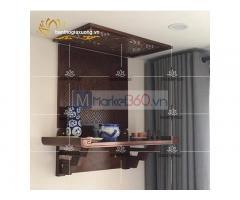 Mẫu bàn thờ treo tường hcm với nhiều thiết kế đơn giản đẹp mắt