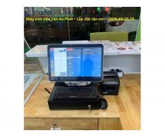 Combo máy tính tiền giá rẻ cho quán trà sữa Điện Biên