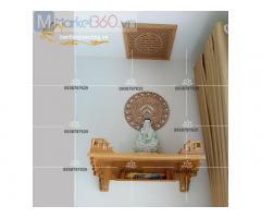 Kiểu bàn thờ treo tường đẹp cùng mức giá tối ưu siêu tiết kiệm