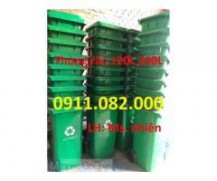 Chuyên sỉ lẻ thùng rác giá rẻ tại đồng tháp- Giảm giá thùng rác 120L 240L 660L-