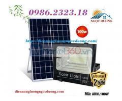 Đèn led pha NLMT 100w,đèn led năng lượng mặt trời,đèn chiếu sáng sân vườn 100w,điện năng lượng mặt trời