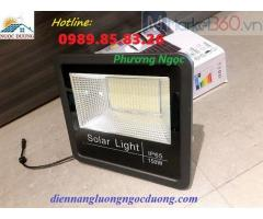 Đèn led công suất 150W năng lượng mặt trời, đèn pha led treo tường năng lượng mặt trời