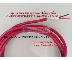 Cáp tín hiệu báo cháy chống nhiễu 2x16AWG (P/N: 9016), 305m/cuộn, vỏ LSZH màu đỏ