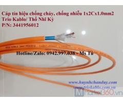 Fire Resistant Cable - Cáp tín hiệu chống cháy, chống nhiễu 2Cx1.0mm2, 500m/cuộn