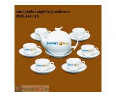 Chuyên In logo ấm trà, ấm chén, cốc sứ, chén đĩa tại Đà Nẵng