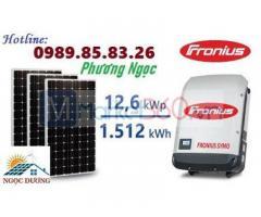 Hệ thống điện mặt trời hòa lưới 12,6 kW 03 pha, lắp đặt điện mặt trời hòa lưới