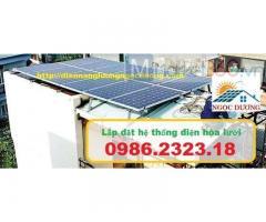 Hệ thống điện mặt trời hòa lưới,combo điện mặt trời hòa lưới giá bao nhiêu