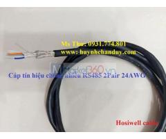 Cáp tín hiệu truyền thông công nghiệp vặn xoắn chống nhiễu, chậm cháy, chống cháy lan RS485 chuẩn 24AWG.