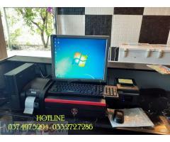 Máy tính tiền trọn bộ cho quán Cà phê- Trà chanh- Kem tại Hà Tĩnh