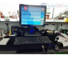 Lắp đặt máy tính tiền cảm ứng trọn bộ cho Quán ăn- Nhà hàng tại Trà Vinh