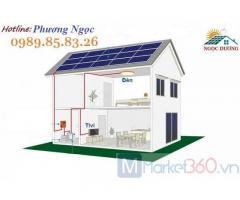 Hệ thống điện năng lượng mặt trời cho hộ gia đình, điện mặt trời áp mái