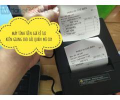 Cung cấp lắp đặt trọn bộ máy tính tiền cho quán mì cay ở Long An