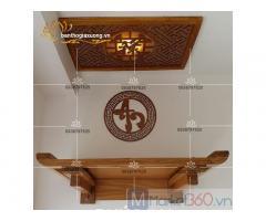 Bàn thờ treo tường với đa dạng mẫu mã hiện đại đẹp độc đáo